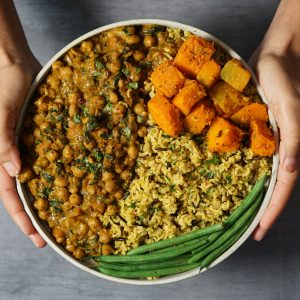 Chickpea Curry with Coconut Wild Rice & Pumpkin